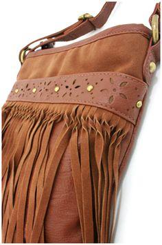 Floral Fringe Cross Body Bag