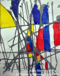 Adventures of an Art Teacher: Art History  Messy Mondrians