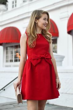 Red Dress || Outfit Ideas || Wedding Guest Dress || Holiday Outfit Ideas || Falling for Beige
