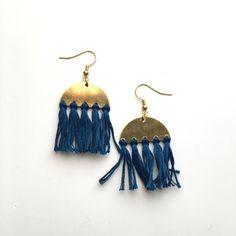 Orwell Earrings - Ocean Blue