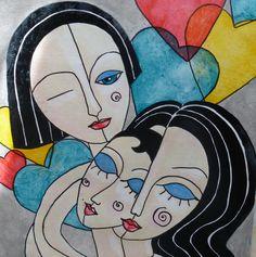 Menage a Trois - Art by Kim Wilkowich