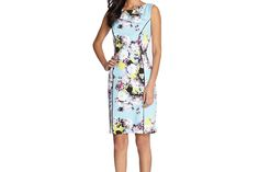 With it's neatly tailored and fitted shape, this floral-print dress bridges feminine and professional | Washingtonian