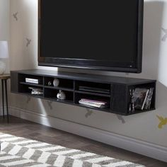 Exceptional South Shore City Life 48 In. Wall Mounted Media Console   4147677