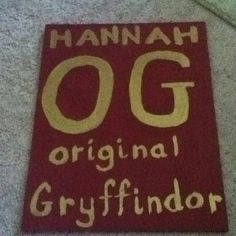 For Hannah:) #iupui #gryffindor