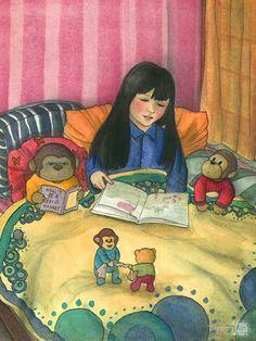 A bedtime story / Un cuento antes de dormir (ilustración de Natalie Chi Mei Tse)