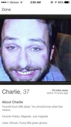 """28 Things All """"It's Always Sunny In Philadelphia"""" Fans Will Laugh At Tinder Humor, Funny Tinder Profiles, Charlie Kelly, Charlie Day, Las Vegas, Sunny In Philadelphia, It's Always Sunny, My Demons, Lol"""