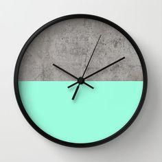 Sea on Concrete Wall Clock by Cafelab by debbie