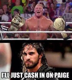 You do that, Seth! Haha! New Divas Champion Seth Rollins: