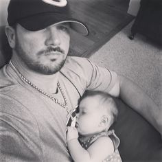 WWE Superstar AJ Styles (Allen Jones) holding his adorable daughter Anney. Styles and his wife Wendy also have three sons, Ajay, Avery, and Albey. #WWE #WWEFamilies #wwecouples