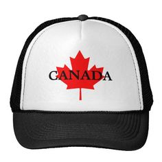 Customizable CANADA Maple Leaf Hat