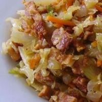 Fried Cabbage with Bacon Onion and Garlic | What2Cook