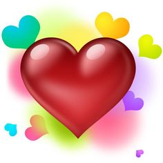 Resultado de imagem para colorful pictures of hearts