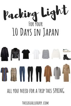 What to Pack for Japan // Outfit Ideas for Japan // What to Wear in Japan // Packing Light for Japan // Japan Travel Tips // Spring in Japan // What to Do in Japan // Japan Packing List Osaka Japan, Okinawa Japan, Japan Trip, Tokyo Trip, Okinawa Diet, Spring Outfits Japan, Japan Outfits, Japan Spring Outfit Travel, Japan Spring Fashion