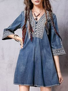 SHARE & Get it FREE | Denim Flared Bib Dress - BlueFor Fashion Lovers only:80,000+ Items • New Arrivals Daily Join Zaful: Get YOUR $50 NOW!
