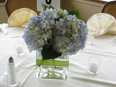 Simple Hydrangea Centerpiece | Hydrangea Reception Centerpiece Share