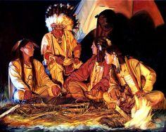 Artist Carol Armstrong-Listening to their Elder. Native American Paintings, Native American Pictures, Native American Women, American Spirit, American Indian Art, Indian Paintings, Native American Indians, American History, Art Paintings