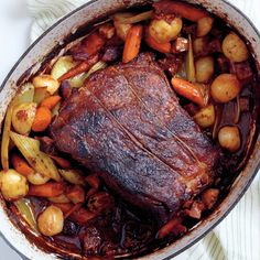 A hearty braise is perfect comfort food. Fresh herbs and flavorful liquids, combined with long, slow cooking, transform inexpensive cuts of beef and humble vegetables into a rich and filling one-pot dinner. Although it may not be quick, it couldn't be easier.