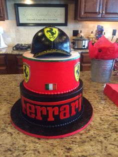 Ferrari Cake I had made for my sons Birthday.