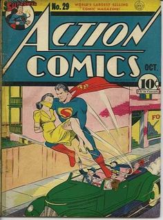 Action Comics (DC, CGC VF- Off-white pages. This is the best copy we've ever offered of Lois - Available at 2010 February Signature Comics. Dc Comic Books, Vintage Comic Books, Comic Book Covers, Vintage Comics, Comic Art, Superman Action Comics, Superman Comic, Dc Comics, Superman Love