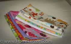 make your own cloth baby wipes - tutorial