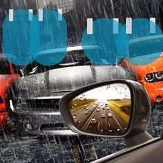 Get OFF Today!Car Rainproof Anti-fog Protective Film Rearview Mirror - Seb Han - Get OFF Today!Car Rainproof Anti-fog Protective Film Rearview Mirror OFF Today! Car Cleaning Hacks, Car Hacks, Car Gadgets, Gadgets And Gizmos, Inventions Sympas, Car Rear View Mirror, Mirror Mirror, Mirrors, Cool Inventions