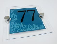 House Number Plaque 77... Attention Grabbing House Signs 'the RX240 in TEAL'