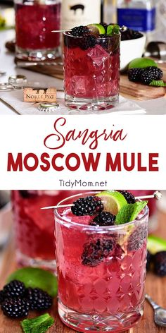 Sangria Mexican Mule Cocktail is part of food_drink - Wine lovers, this Moscow Mule is for you! Sangria Mexican Mule is a tequila based version of the classic Moscow Mule along with red wine and berries Making it fruity, zingy and a guaranteed win Beste Cocktails, Alcohol Drink Recipes, Fruity Alcohol Drinks, Easy Tequila Drinks, Tequila Based Cocktails, Mix Drink Recipes, Raspberry Vodka Drinks, Wine Recipes, Pomegranate Drinks