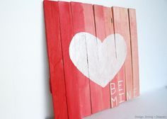Mini Pallet Art Using Wood Shims