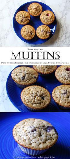 {REZEPT} - Kalorienarme Bananen-Ei Muffins // Ohne Mehrl und Zucker // Weight Watchers = 5 Smartpoints