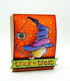 Elizabeth Allan's Art Studio: Halloween Candy Matchbook