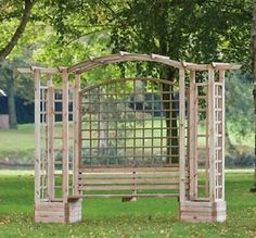 Wooden Pergola with Bench, Planter Garden Arbour and Seat Bench Furniture   eBay
