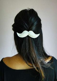 Mustache Hair Clips #Mustache #hairClip #Christmas
