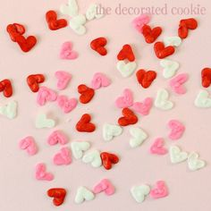 homemade heart sprinkles for Valentine's Day   The Decorated Cookie