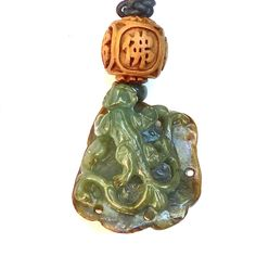 Carved natural green jade dragon pendant with burmese jade necklace hand carved green jade dragon pendant necklace aloadofball Images