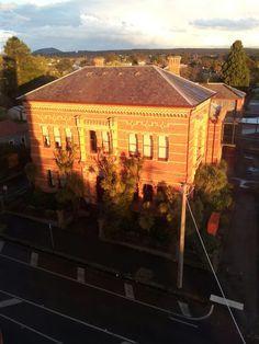 The old Ballarat Library taken from the Ballarat fire brigade fire tower
