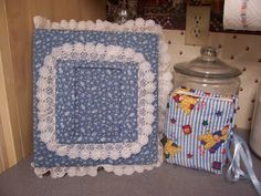 Fabric Covered Photo Albums - all the rage in the 80s..I still have one just like the blue one..exactly like it!