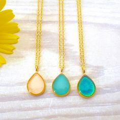 Teardrop Ring, Teardrop Necklace, Dangle Earrings, Matching Rings, Simple Necklace, Necklace Lengths, Bridesmaid Gifts, Turquoise Necklace, Jewelry Necklaces