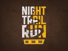 Unique Logo Design, Night Trail Run Logos, Logo Branding, Brand Identity, Work Inspiration, Logo Design Inspiration, Running Inspiration, Running Posters, Running Quotes, Running Motivation
