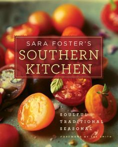 Sara Foster's Southern Kitchen: Soulful, Traditional, Seasonal, is filled with traditional Southern favorites as seen through Sara's kitchen. It's a book that you can't help but get hungry from just looking at it as it's packed with Southern favorites that I want to eat this very second. All the classics are there with contemporary twists like Shrimp Jabalaya, fried chicken, brisket and spare ribs.