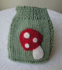 phone cosy knitted phone cover mobile phone sock green