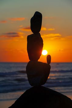 Balanced Rocks at Sunset in Oceanside - August 10, 2013 by Rich Cruse on 500px