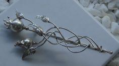 pomegranate silver pin