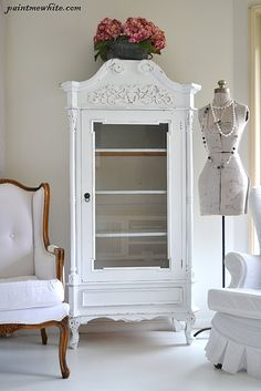Paint Me White: Search results for armoire Shabby Chic Furniture, Vintage Furniture, Painted Furniture, Refinished Furniture, White Armoire, White Cabinet, French Armoire, Furniture Makeover, Diy Furniture