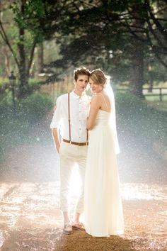 James Day Amazingness - Wedding Portrait in the Rain. I need to try this on a senior...