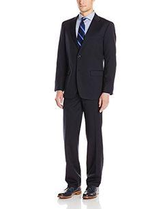 Nautica Men's Classic Fit 2 Button Side Vent Nested Suit, Black ...
