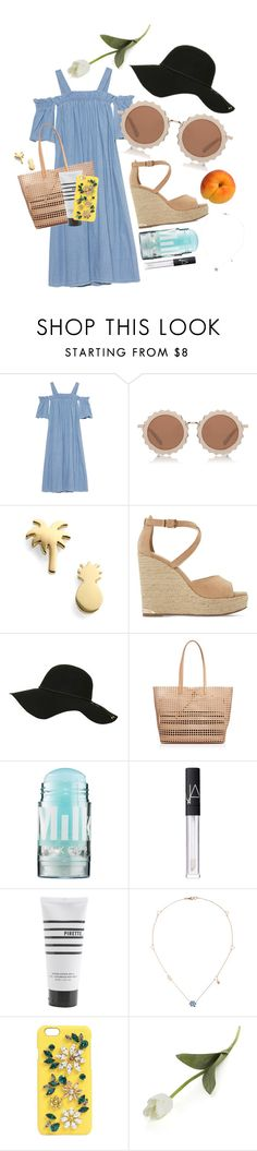 """""""summer"""" by occults ❤ liked on Polyvore featuring SJYP, House of Holland, Seoul Little, Dune, Topshop, Loeffler Randall, MILK MAKEUP, NARS Cosmetics, Pirette and Gucci"""