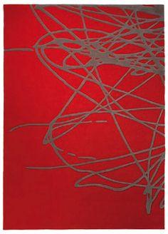 Tapis Rouge Brainstorm par Esprit Home