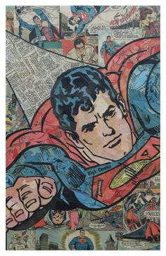 Superman 3 Print 11x17 by ComicCollageArt on Etsy