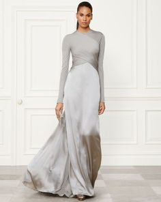 Inexpensive reproductions, recreations & replications of Haute Couture Designer Dresses, Formal Ball Gowns & evening wear. Beautiful Gowns, Beautiful Outfits, Gorgeous Dress, Long Sleeve Evening Dresses, Long Sleeve Gown, Modest Evening Gowns, Evening Outfits, Mode Inspiration, Looks Style