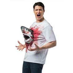 ハロウィンコスプレ衣装サメ映画シャークネイドサメ付きTシャツ大人用コスチューム
